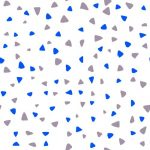 Scattered triangles purple and blue CLAIMEDWEB